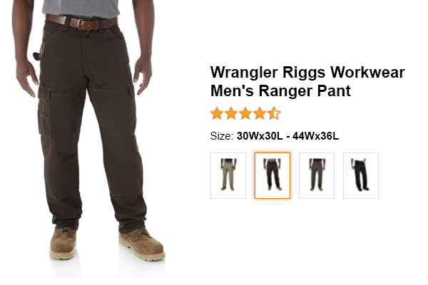 Wrangler Riggs Workwear Men's Ranger Pant for summer and hot weather