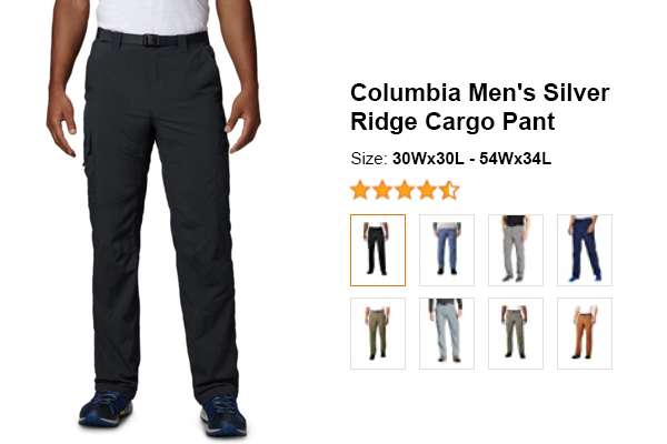 Columbia Men's Silver Ridge Cargo Pant for summer and hot weather