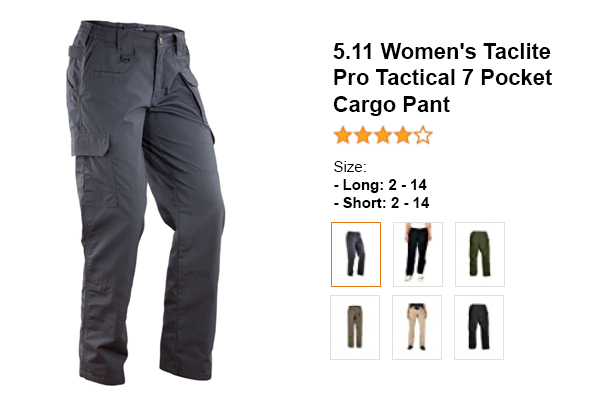 11 Women's Taclite Pro Tactical 7 Pocket Cargo Pant for summer and hot weather