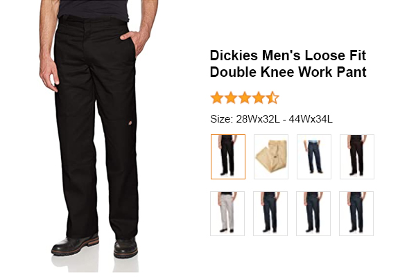 Dickies Men's Loose Fit Double Knee Work Pant for Electricians