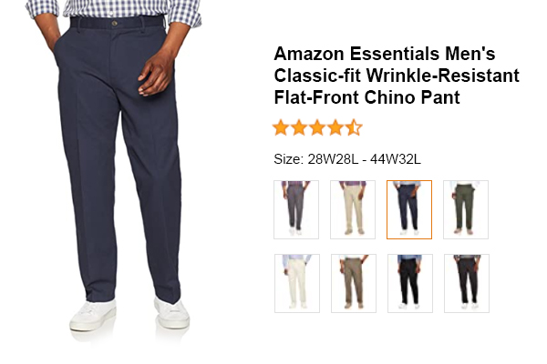 Amazon Essentials Men's Classic-fit Wrinkle-Resistant Flat-Front Chino Pant for Electricians