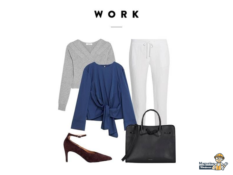Elegant and striking style with a pair of white linen pants