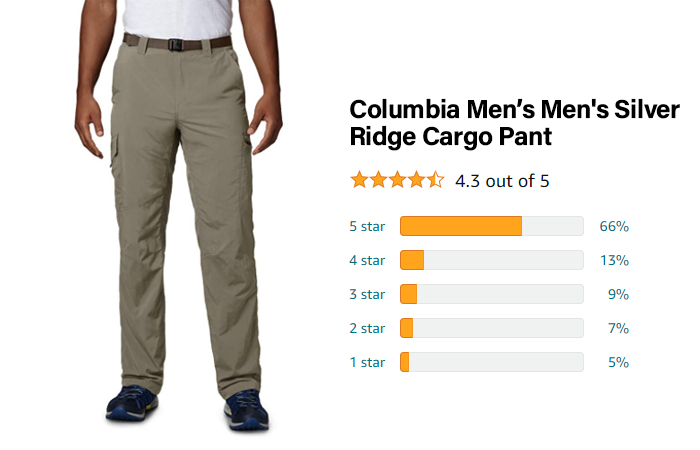 Columbia Silver Ridge Tall Cargo Pant - Best for waterproof