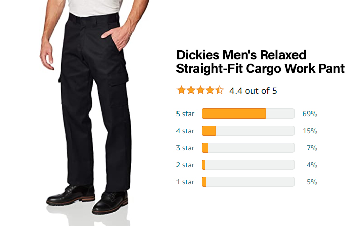 Dickies Men's Relaxed Straight-Fit Cargo - Best for sustainable fabrics