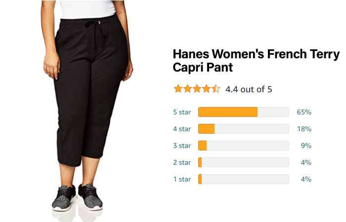 Hanes Women's French Terry Capri Pant - Best for breathability