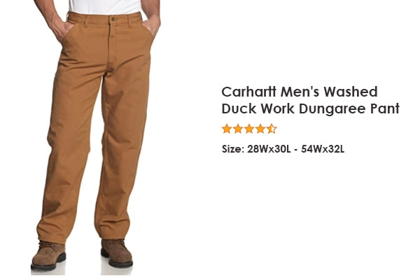 Carhartt Men's Washed Duck - Best for a simple design